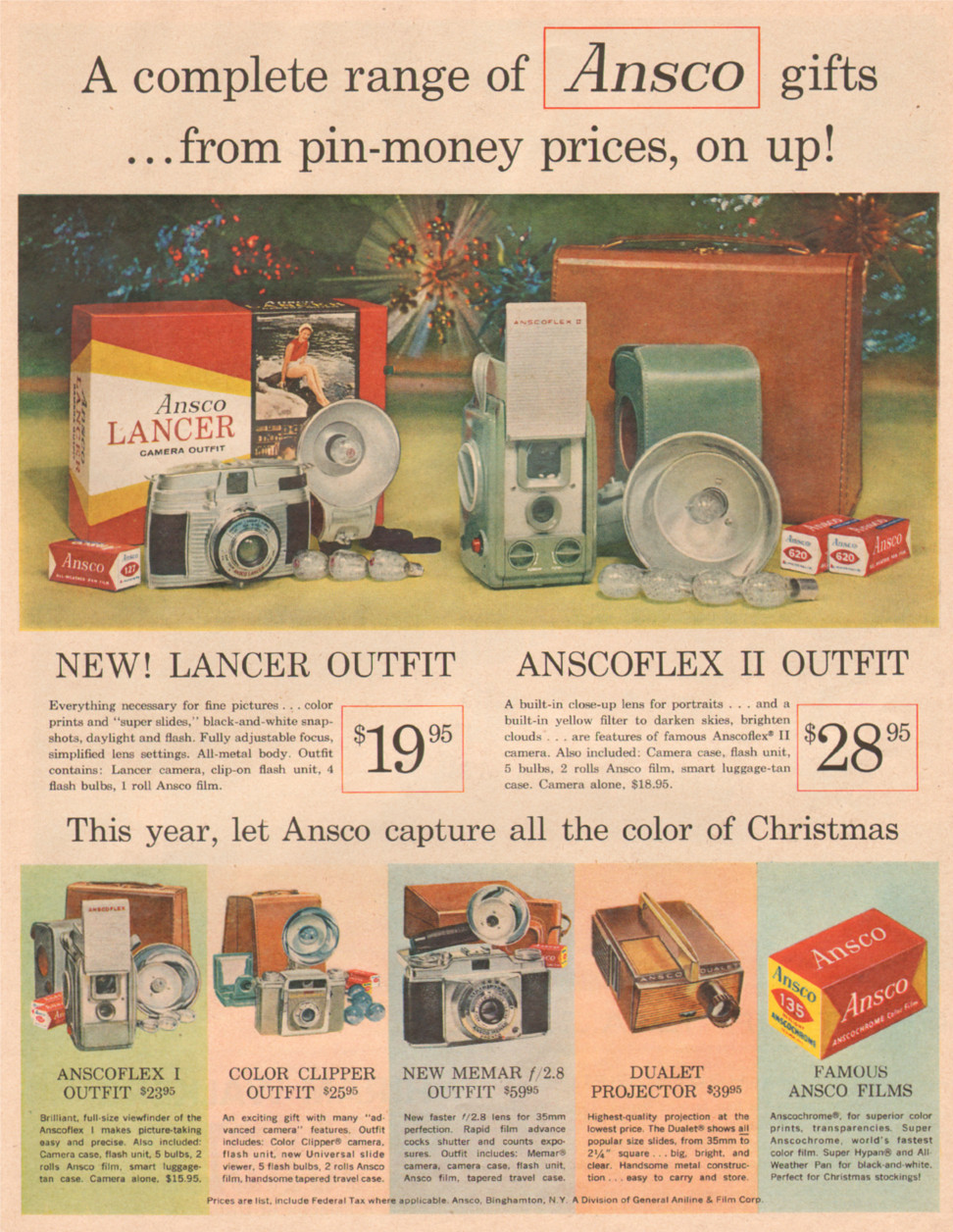 ANSCO FILM AND CAMERAS LIFE 12/08/1958 p. 69