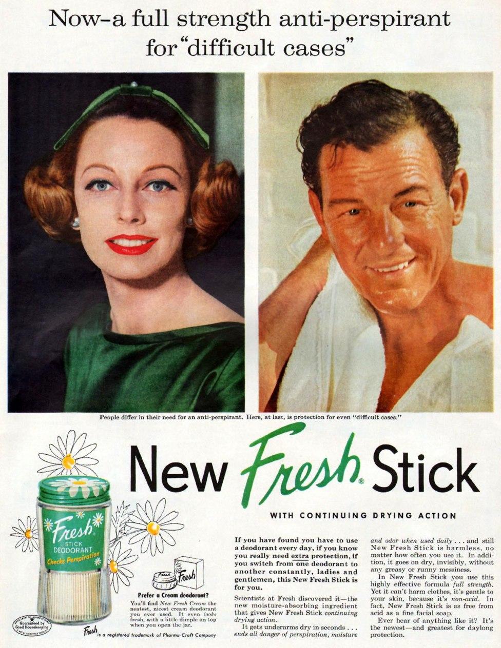 FRESH STICK DEODORANT LIFE 04/01/1957 p. 22