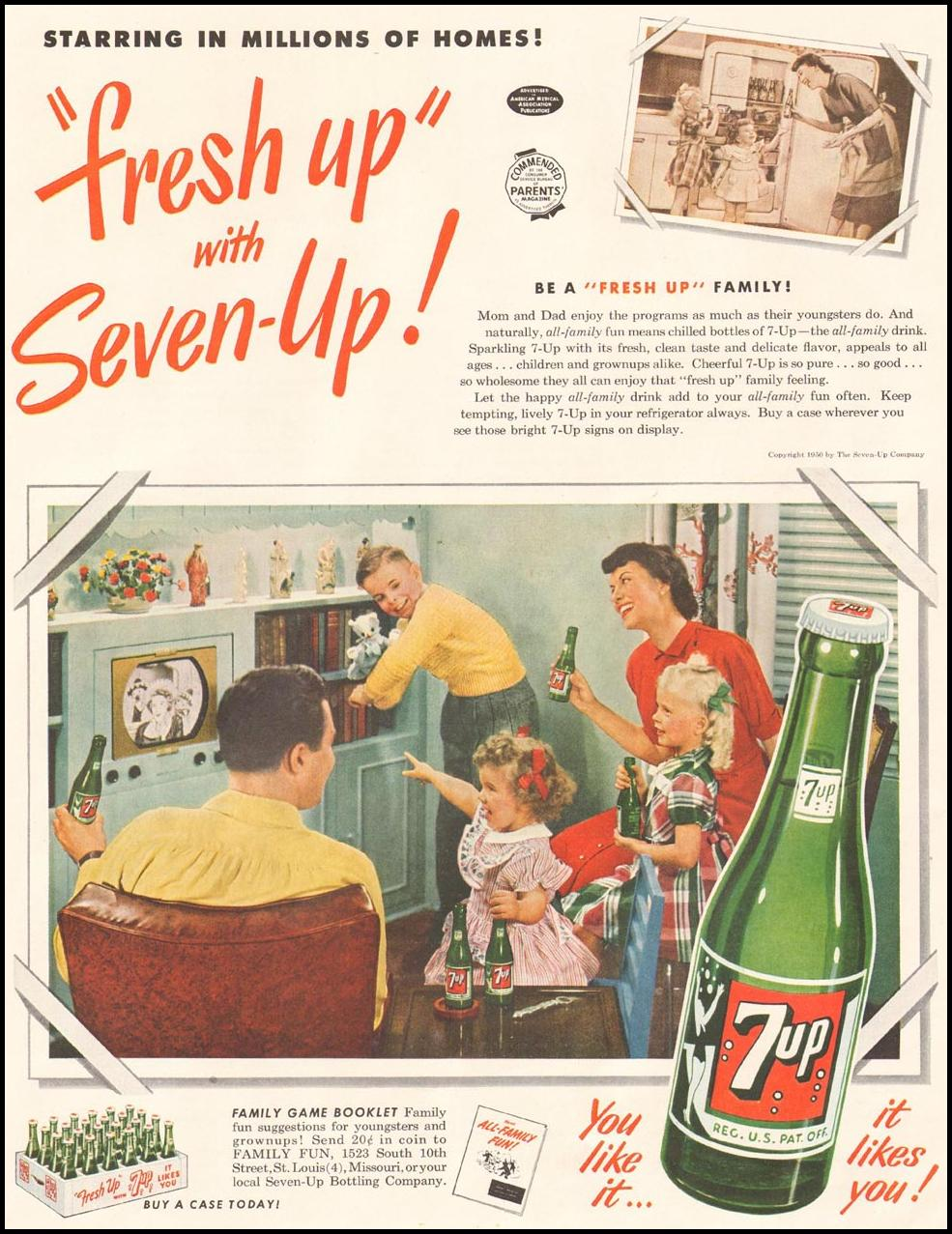 SEVEN-UP LADIES' HOME JOURNAL 11/01/1950 p. 25