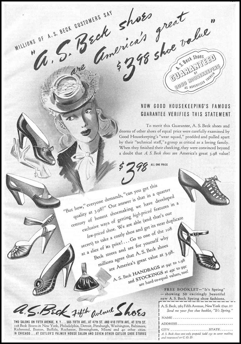 FIFTH AVENUE SHOES GOOD HOUSEKEEPING 03/01/1940 p. 121