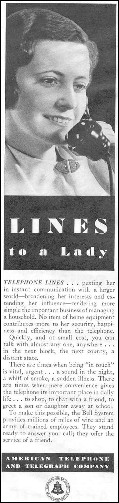 TELEPHONE SERVICE GOOD HOUSEKEEPING 06/01/1933 p. 112