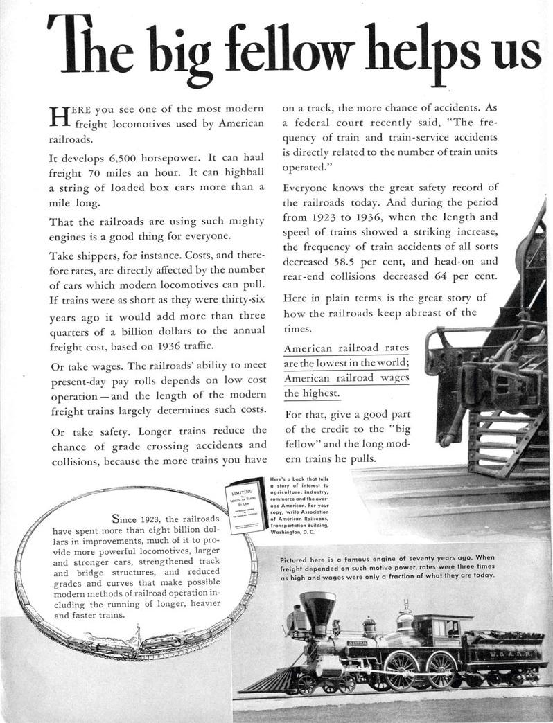 ASSOCIATION OF AMERICAN RAILROADS LIFE 09/06/1937 p. 14