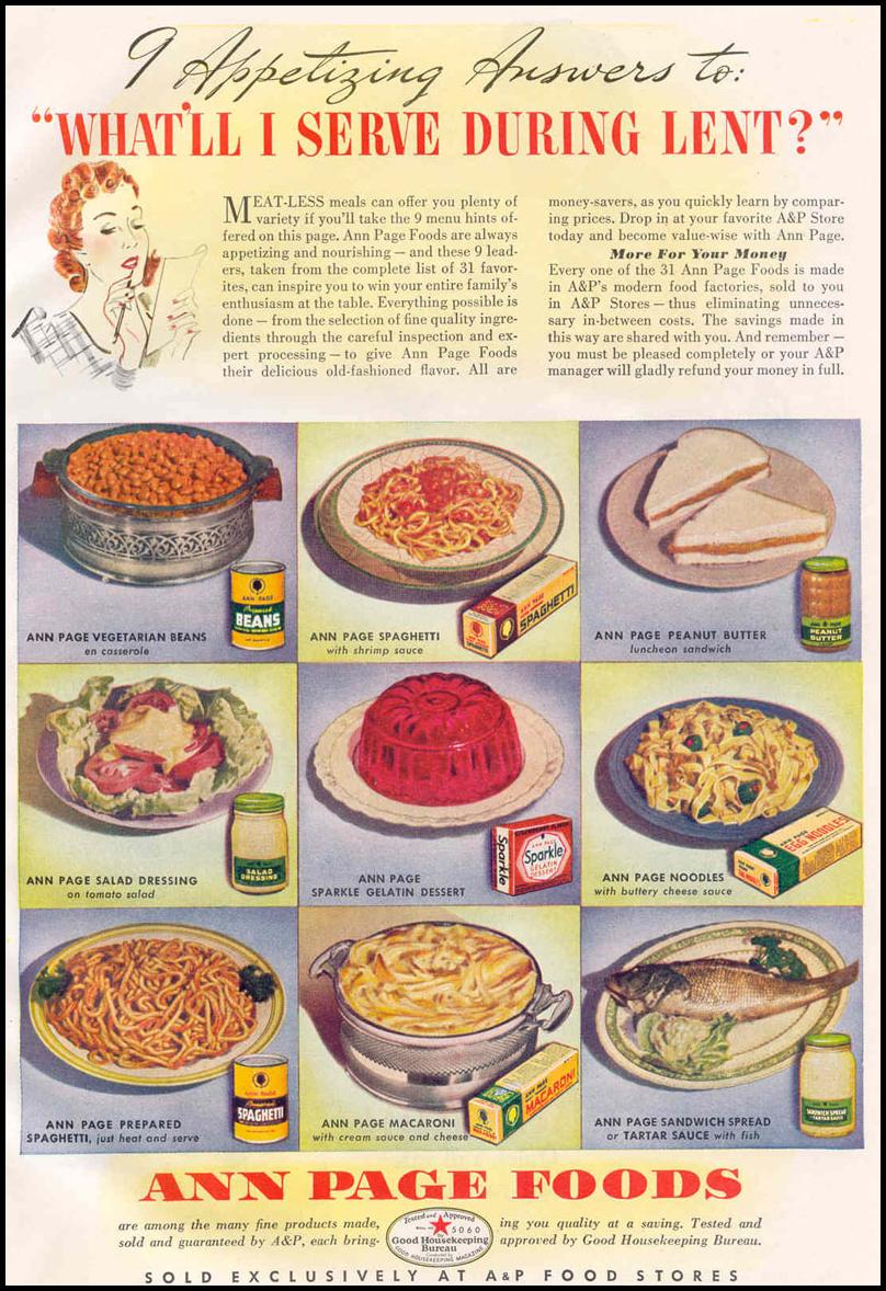 ANN PAGE FOODS GOOD HOUSEKEEPING 03/01/1940 p. 115