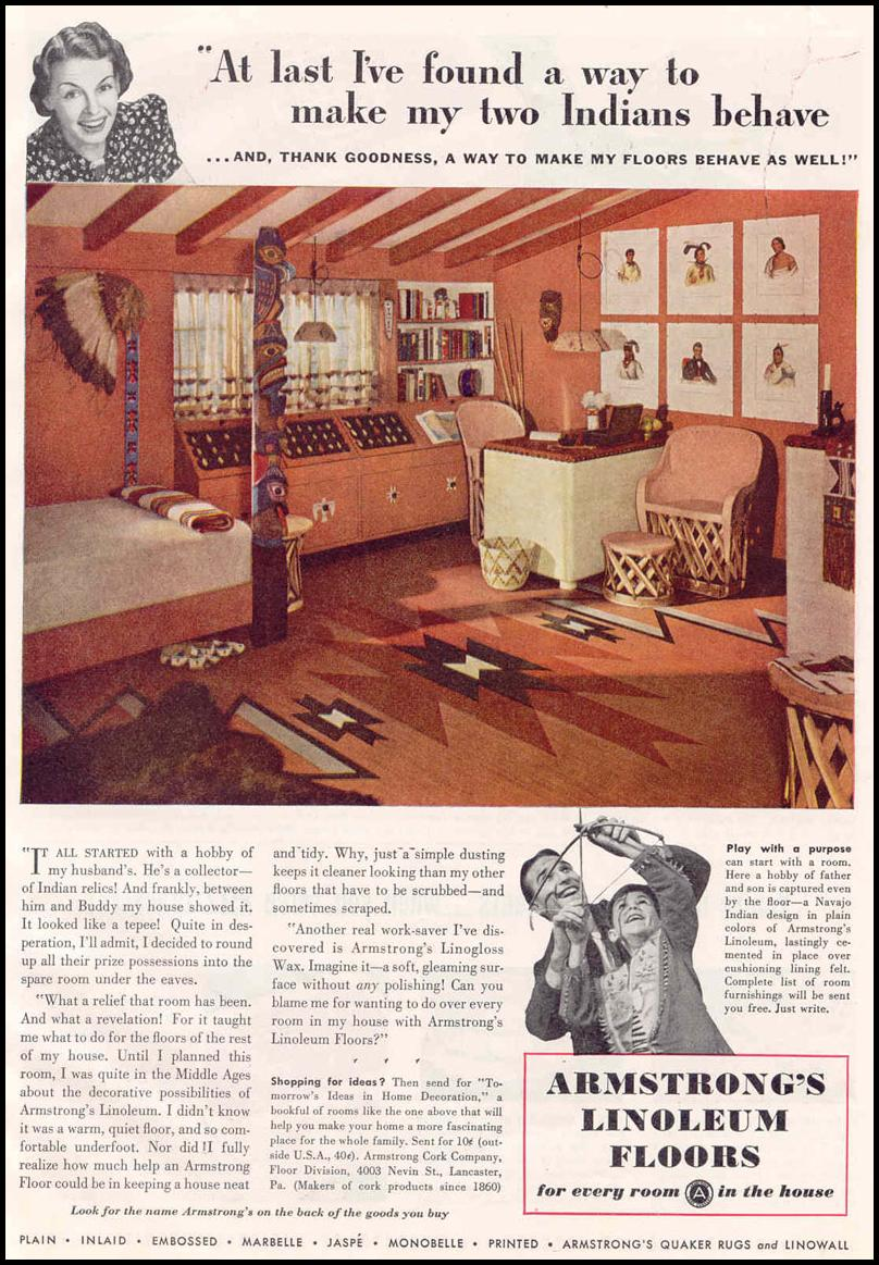 ARMSTRONG LINOLEUM FLOORS GOOD HOUSEKEEPING 03/01/1940 p. 15