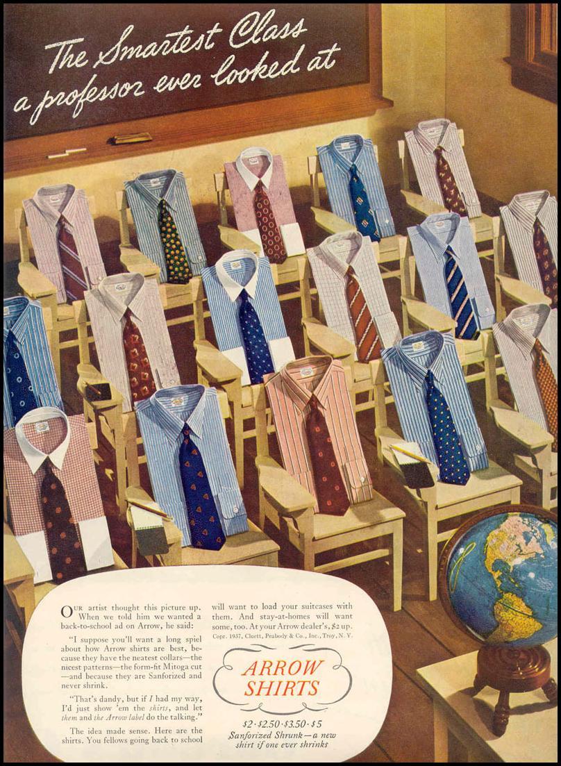 ARROW SHIRTS LIFE 09/06/1937 p. 75