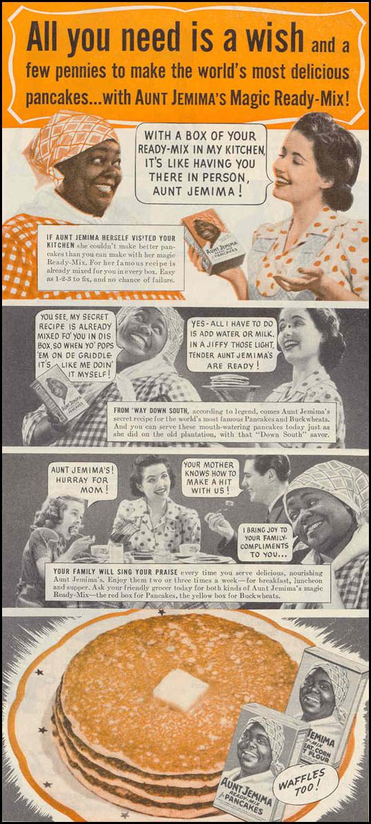 AUNT JEMIMA PANCAKES GOOD HOUSEKEEPING 03/01/1940 p. 133