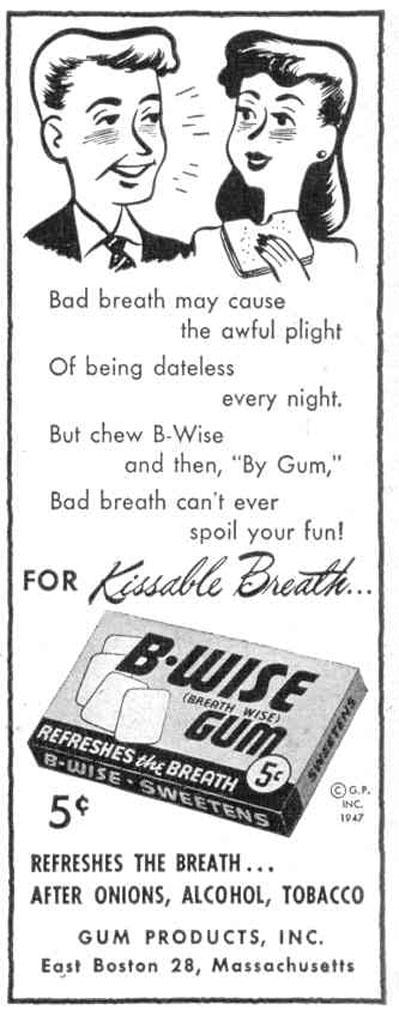 B-WISE GUM LIFE 10/27/1947 p. 22