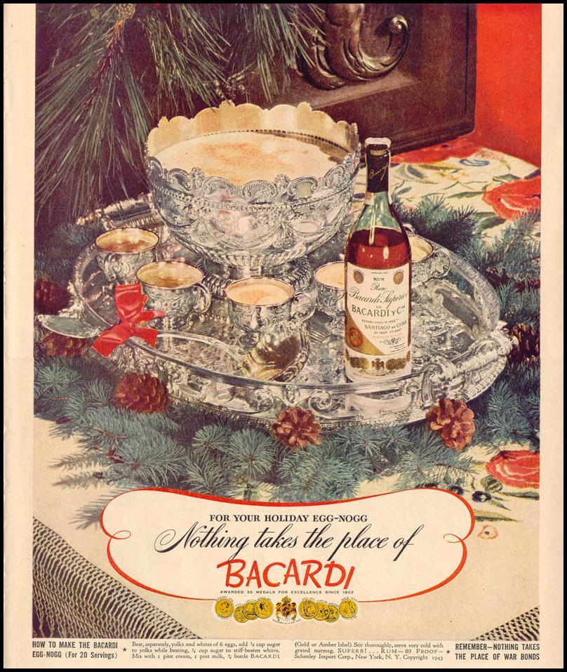 BACARDI RUM LIFE 12/20/1943 p. 115