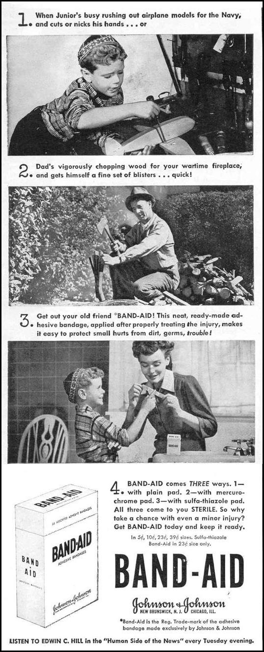 BAND-AID ADHESIVE BANDAGES LIFE 11/01/1943 p. 4