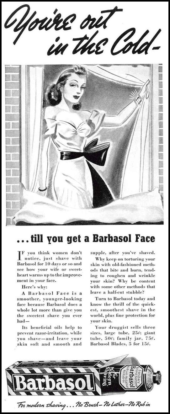 BARBASOL SHAVE CREAM LIFE 02/20/1939 p. 4
