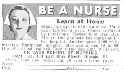 NURSING SCHOOL GOOD HOUSEKEEPING 03/01/1940 p. 202