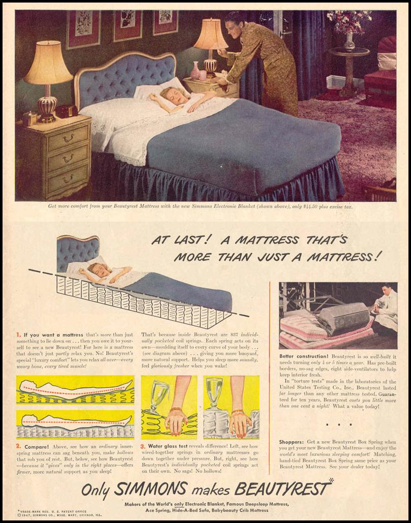 BEAUTYREST MATTRESS LIFE 10/27/1947 p. 23
