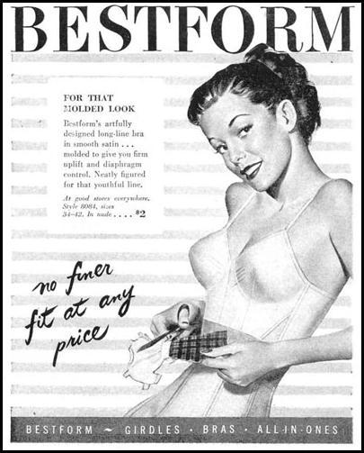 BESTFORM LONGLINE BRA LIFE 10/27/1947 p. 133