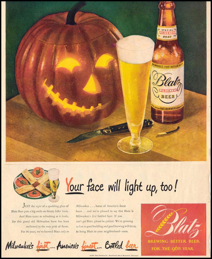 BLATZ BEER LIFE 10/27/1947