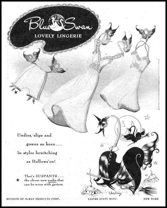 BLUE SWAN LINGERIE LIFE 10/27/1947 p. 110