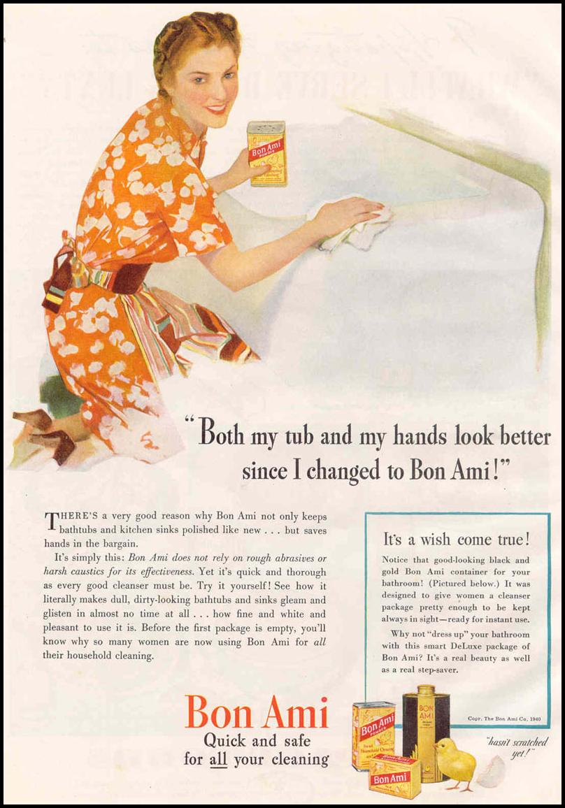 BON AMI CLEANSER GOOD HOUSEKEEPING 03/01/1940 p. 116