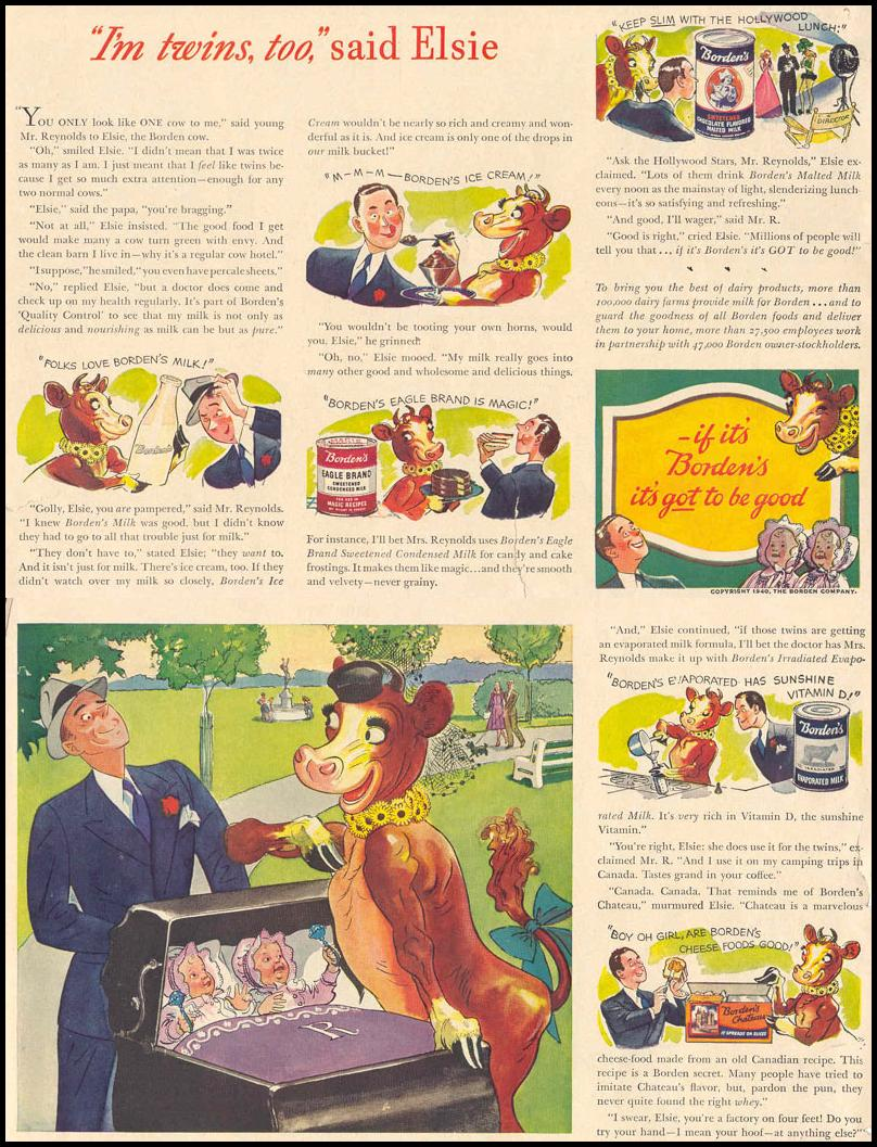 BORDEN`S DAIRY PRODUCTS LIFE 03/18/1940