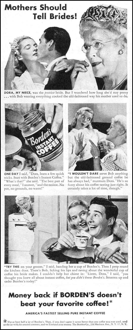 BORDEN'S INSTANT COFFEE LIFE 10/27/1947 p. 54