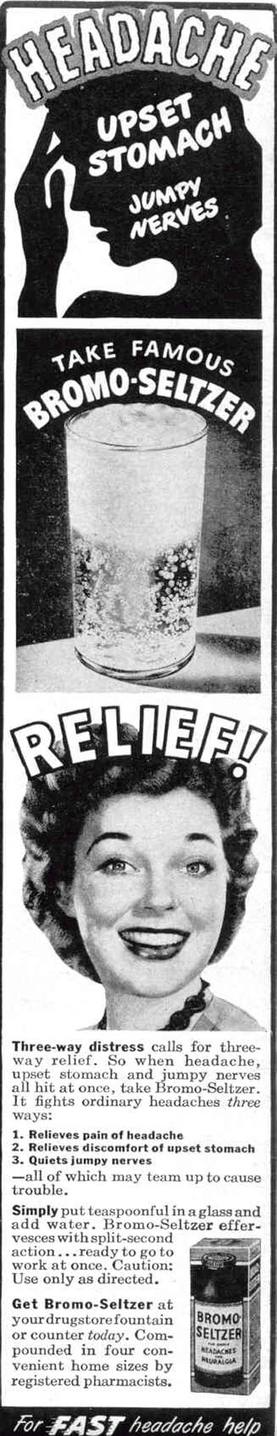 BROMO-SELTZER LIFE 10/27/1947 p. 14