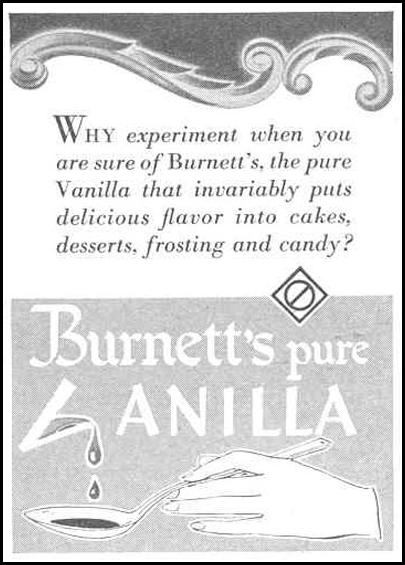 BURNETT'S PURE VANILLA EXTRACT GOOD HOUSEKEEPING 03/01/1940 p. 191