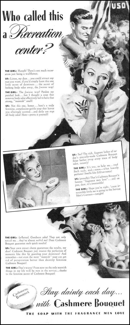 CASHMERE BOUQUET SOAP LIFE 12/20/1943 p. 11