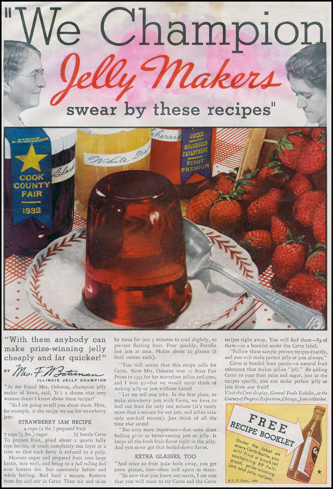 CERTO PECTIN GOOD HOUSEKEEPING 06/01/1933 p. 109