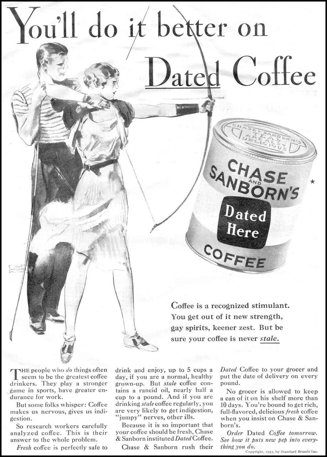 CHASE & SANBORN COFFEE GOOD HOUSEKEEPING 06/01/1933 p. 103