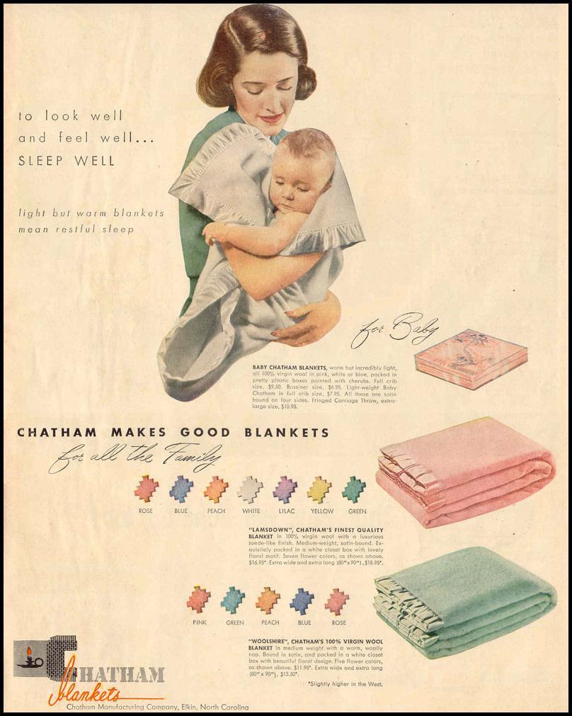 CHATHAM BLANKETS LIFE 10/27/1947