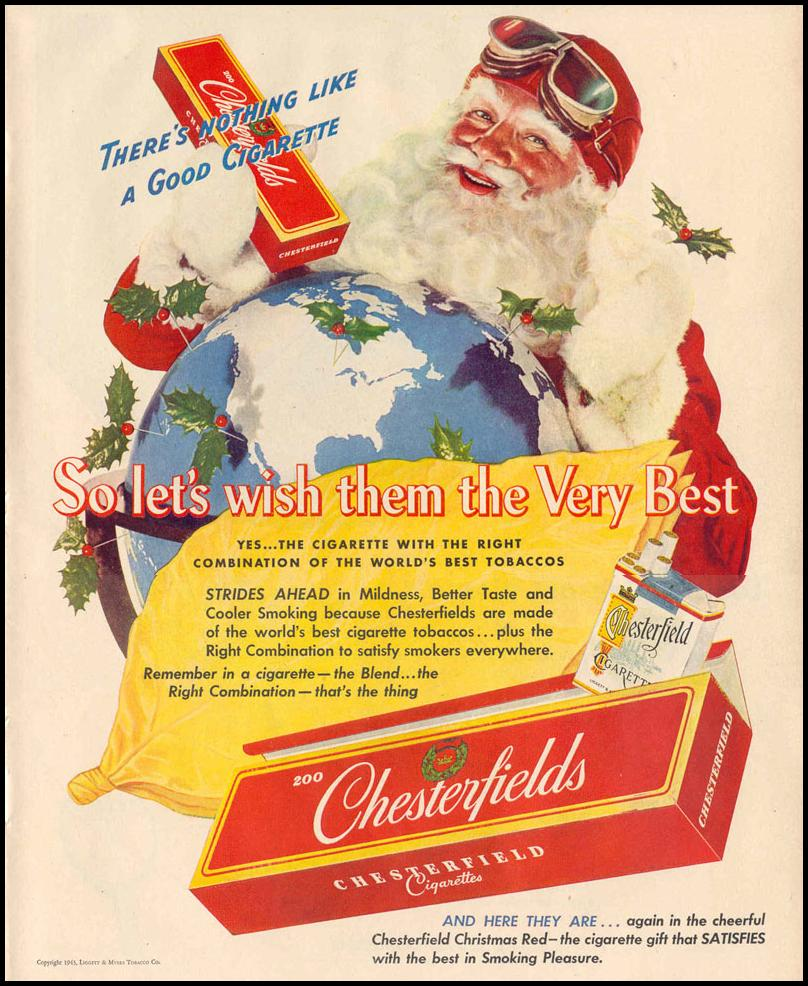CHESTERFIELD CIGARETTES LIFE 12/20/1943 p. 39