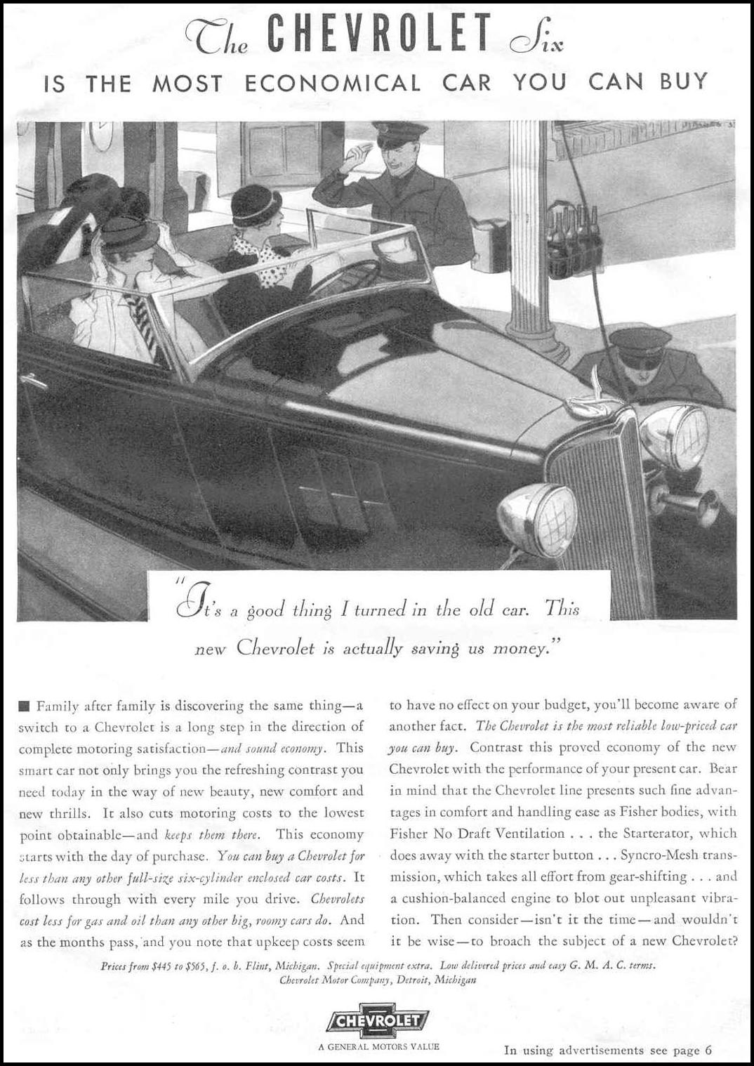 CHEVROLET AUTOMOBILES GOOD HOUSEKEEPING 06/01/1933 p. 115