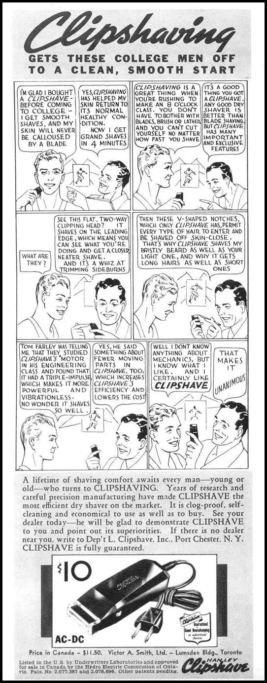 CLIPSHAVE ELECTRIC RAZOR LIFE 09/06/1937 p. 68