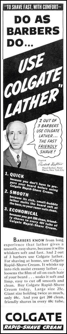 COLGATE RAPID-SHAVE CREAM LIFE 02/20/1939 p. 9