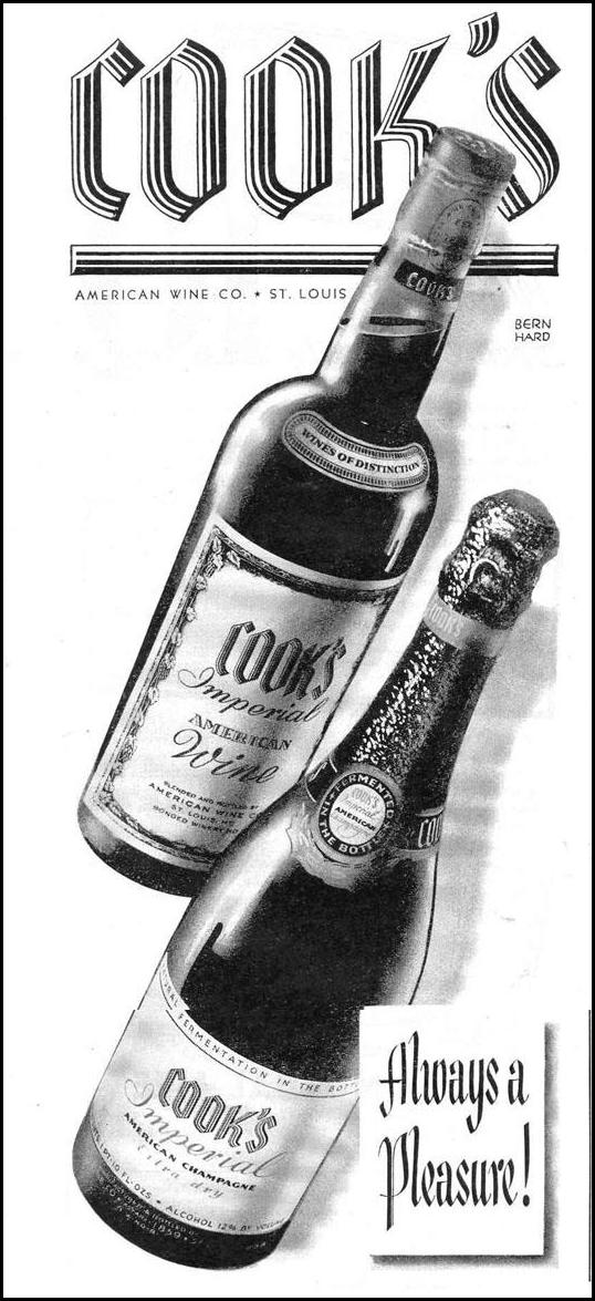 COOK'S IMPERIAL WINES AND CHAMPAGNES LIFE 12/20/1943 p. 18