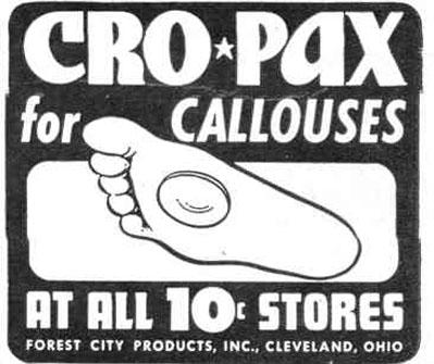 CRO-PAX CALLOUS PADS LIFE 12/20/1943 p. 98