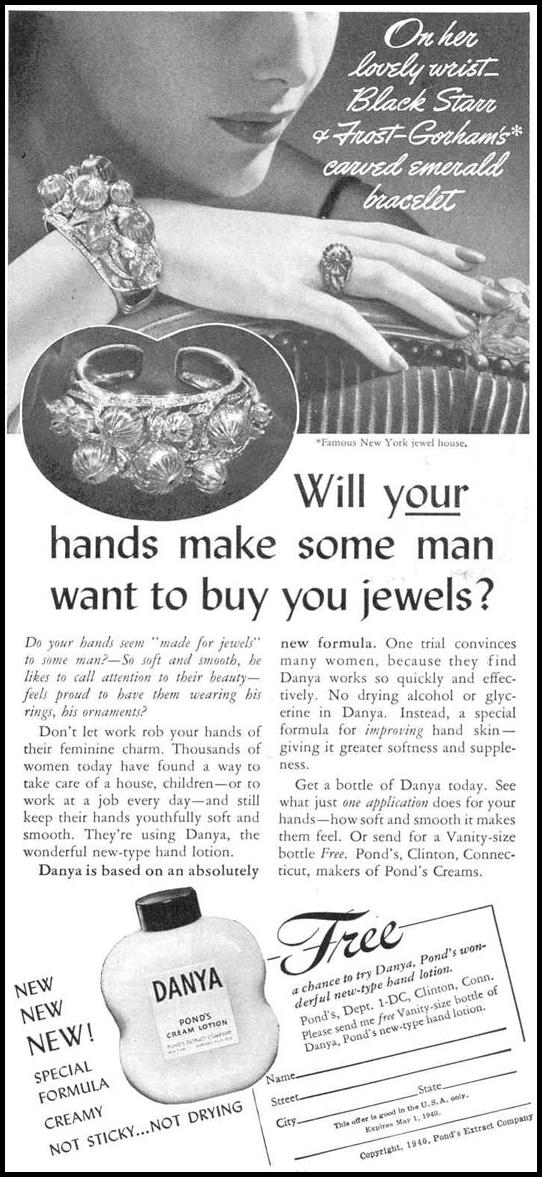 DANYA HAND LOTION GOOD HOUSEKEEPING 03/01/1940 p. 131