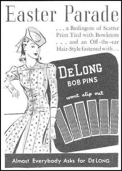 DE LONG BOB PINS GOOD HOUSEKEEPING 03/01/1940 p. 191