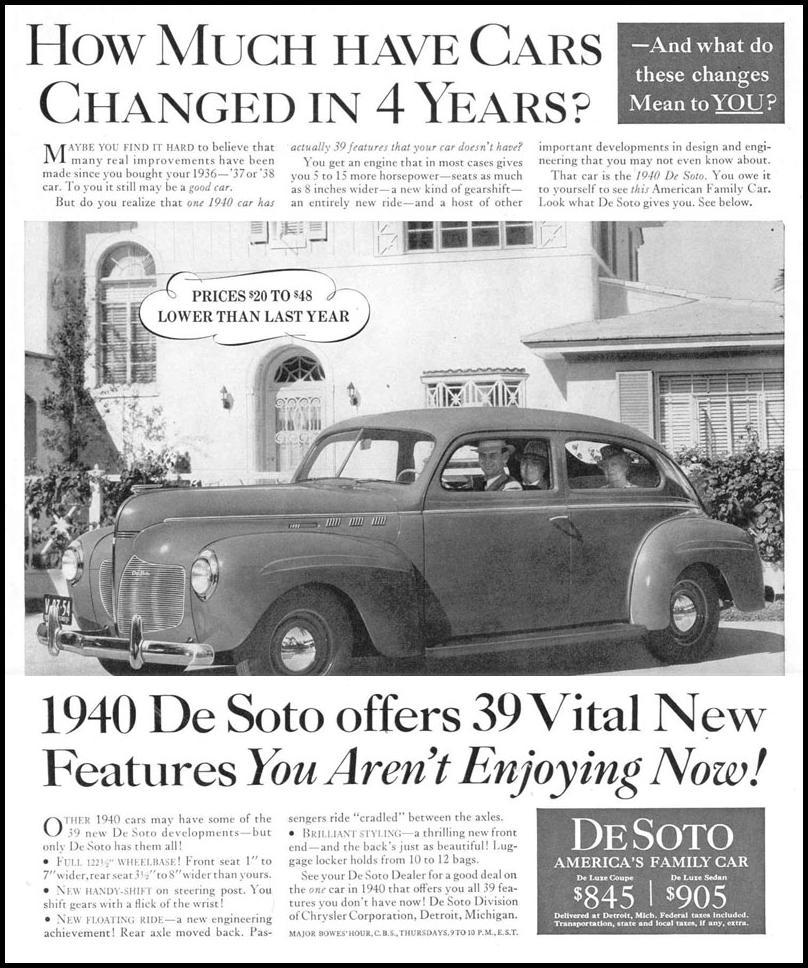 DE SOTO AUTOMOBILES LIFE 03/18/1940 p. 49