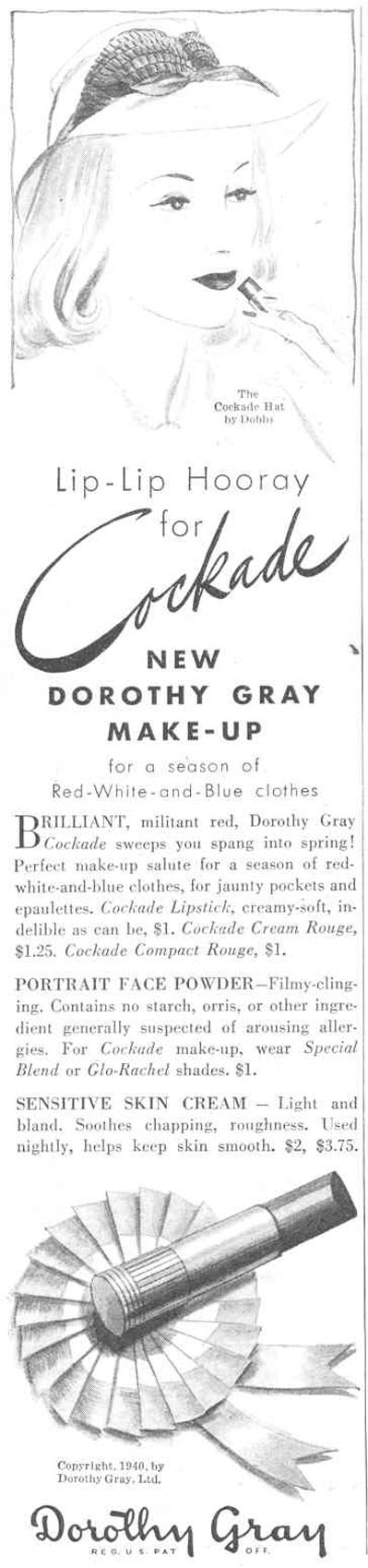 COCKADE MAKE-UP GOOD HOUSEKEEPING 03/01/1940 p. 76