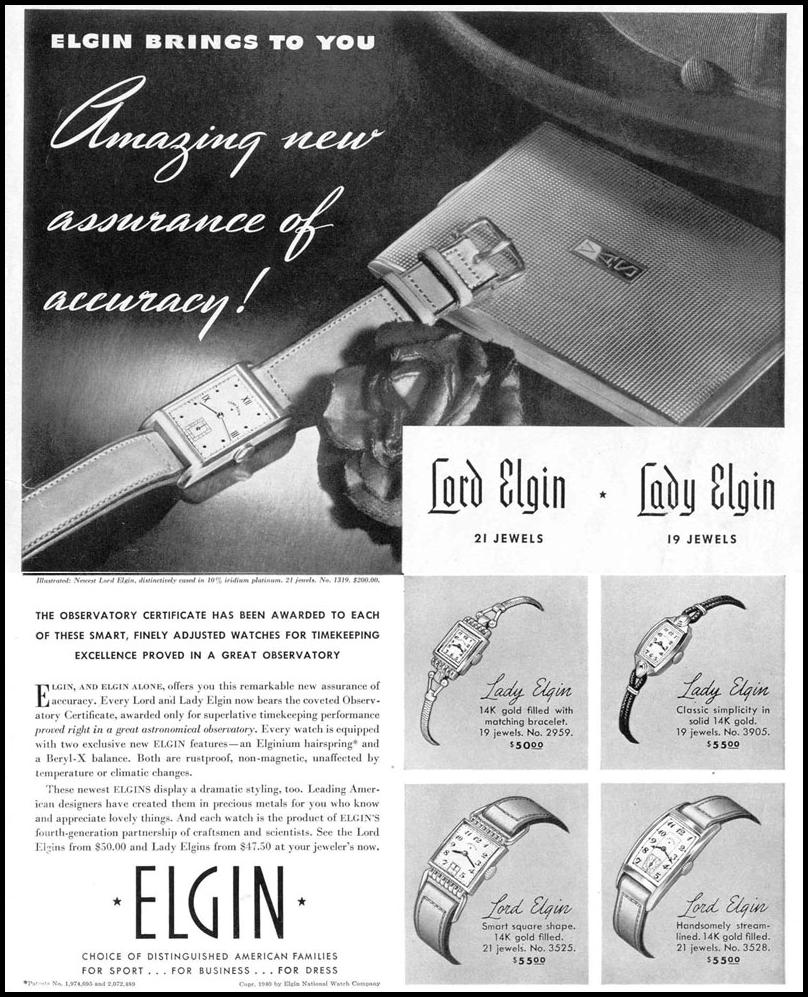 LORD & LADY ELGIN WRISTWATCH LIFE 03/18/1940 p. 7