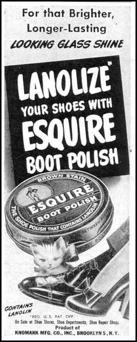 ESQUIRE BOOT POLISH LIFE 10/27/1947 p. 12