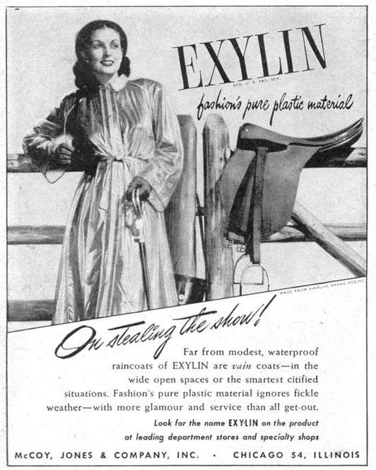 EXYLIN RAINCOATS LIFE 10/27/1947 p. 96