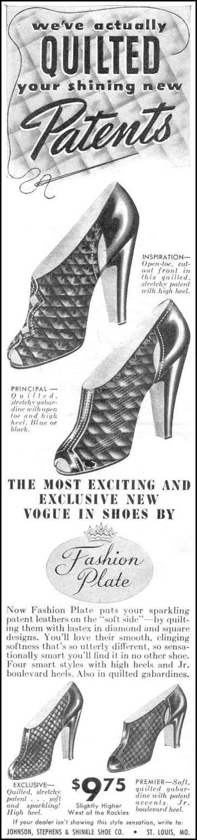 FASHION PLATE SHOES GOOD HOUSEKEEPING 03/01/1940 p. 138