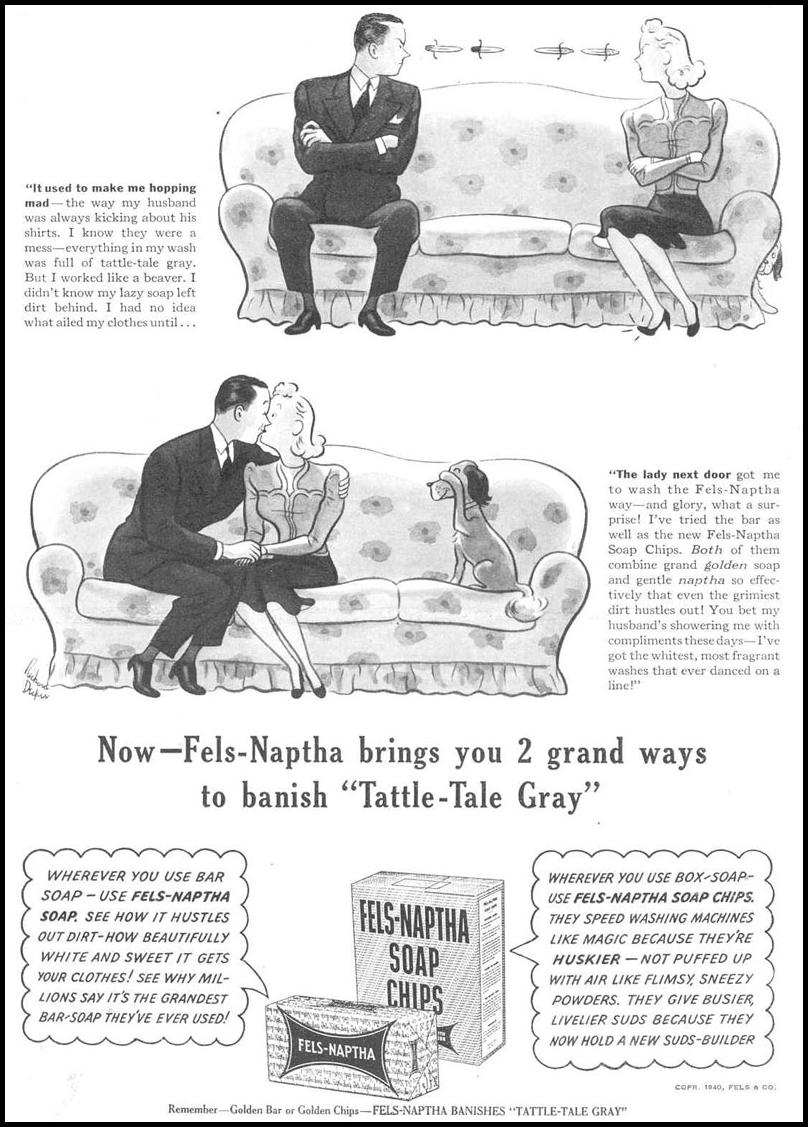 FELS-NAPTHA SOAP GOOD HOUSEKEEPING 03/01/1940 p. 67