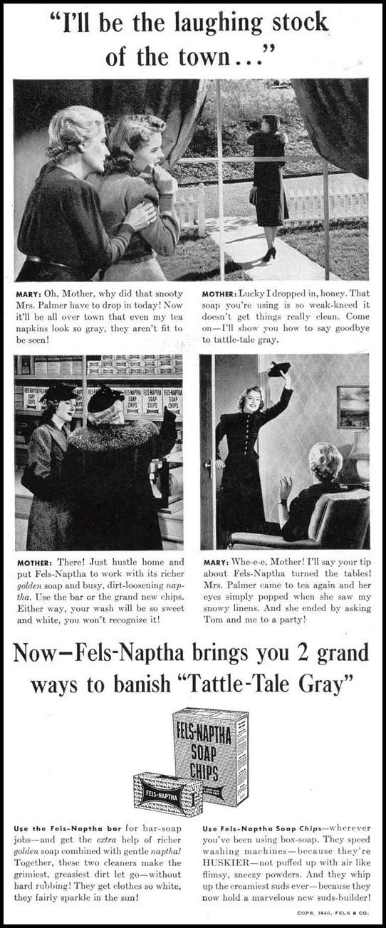 FELS-NAPTHA SOAP LIFE 03/18/1940