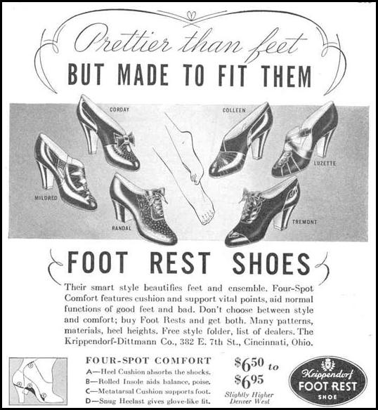 FOOT REST SHOES GOOD HOUSEKEEPING 03/01/1940 p. 203