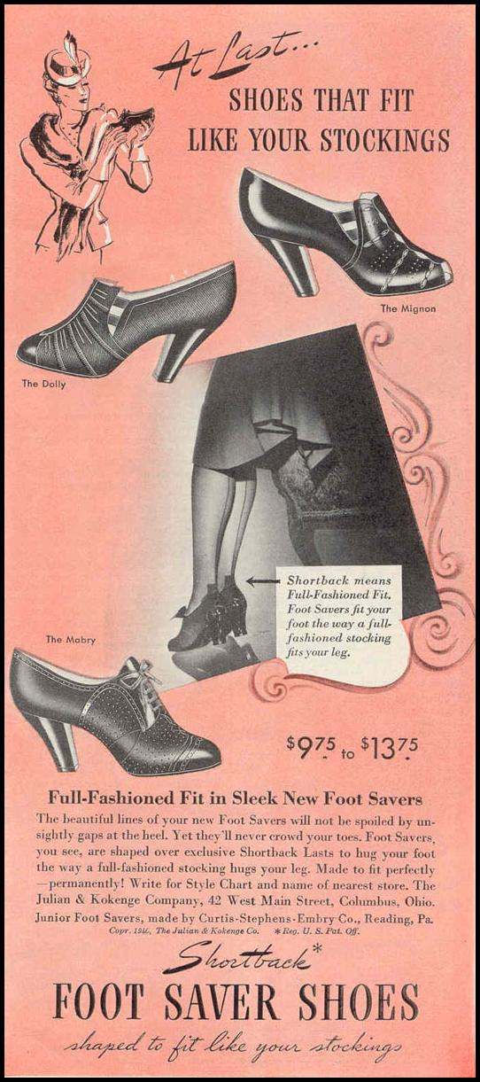 FOOT SAVER SHOES GOOD HOUSEKEEPING 03/01/1940 p. 181