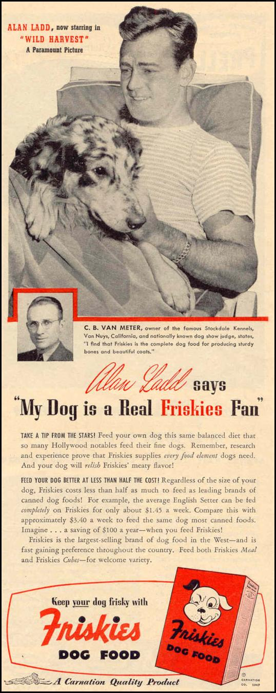 FRISKIES DOG FOOD LIFE 10/27/1947 p. 9