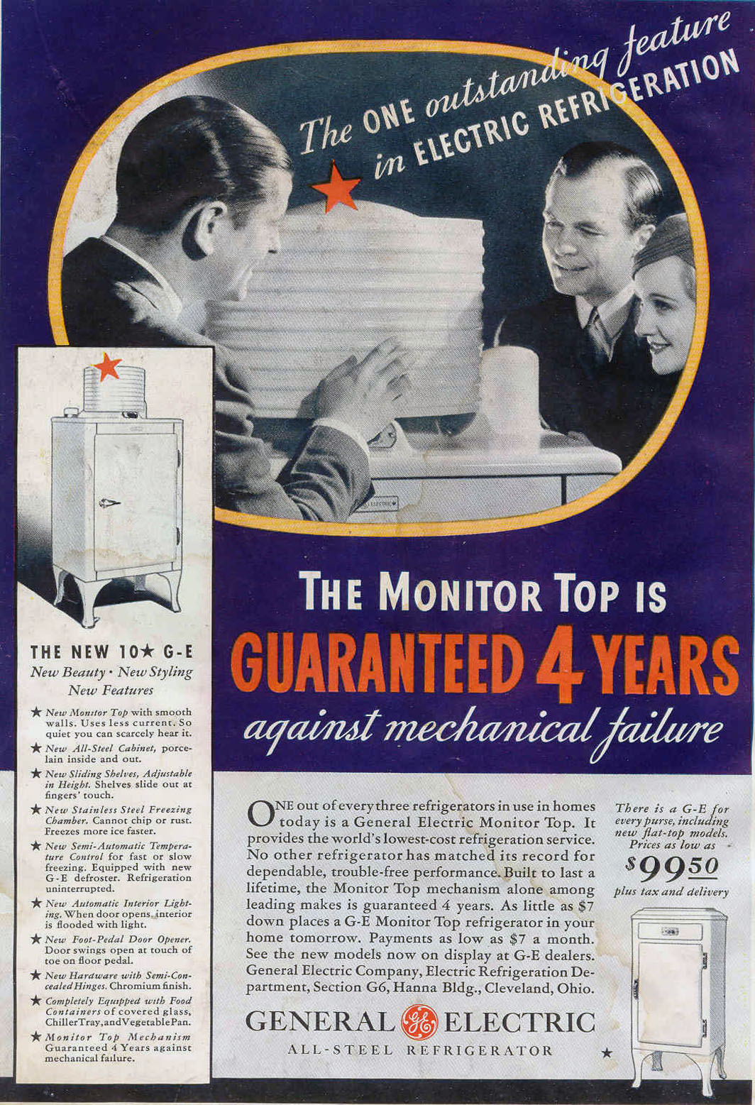 MONITOR TOP ALL-STEEL ELECTRIC REFRIGERATOR GOOD HOUSEKEEPING 06/01/1933 INSIDE FRONT