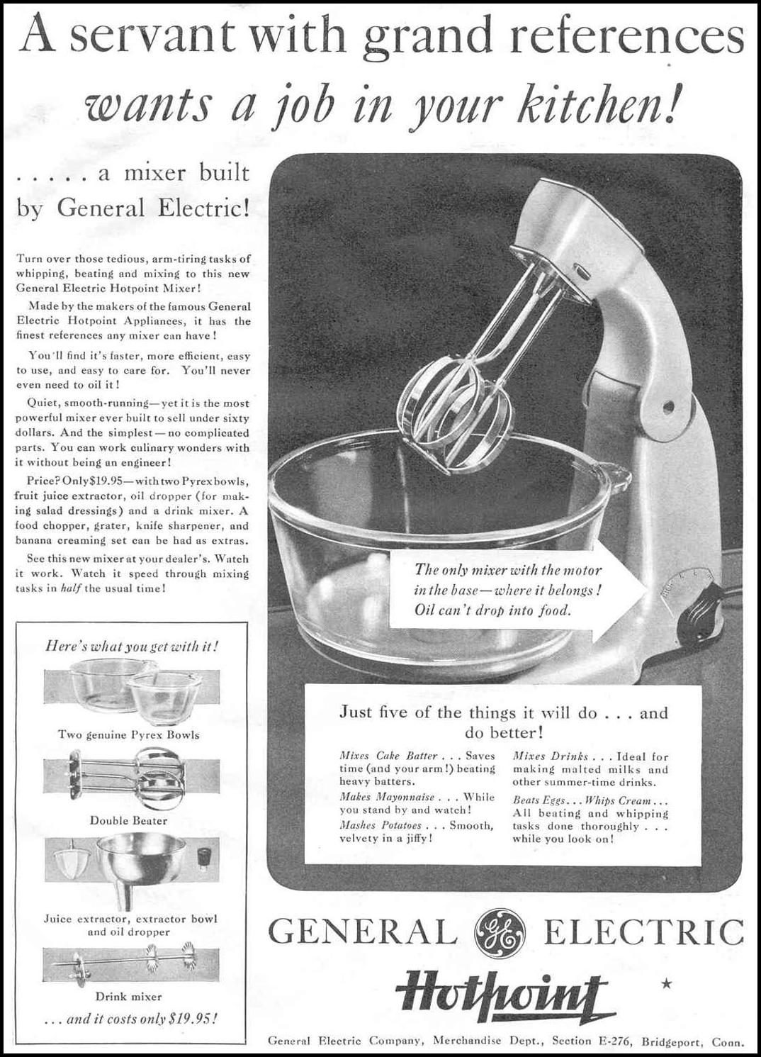 HOTPOINT MIXER GOOD HOUSEKEEPING 06/01/1933 p. 121