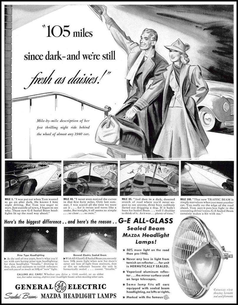 MAZDA HEADLIGHT LAMPS LIFE 03/18/1940 p. 93